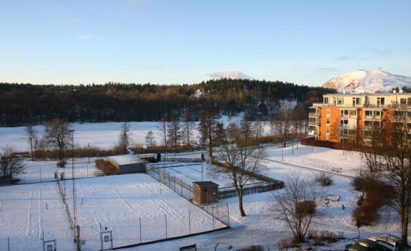 Sickla sjö i vinterskrud